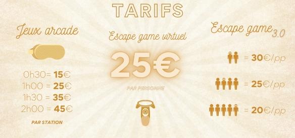 tarifs le game