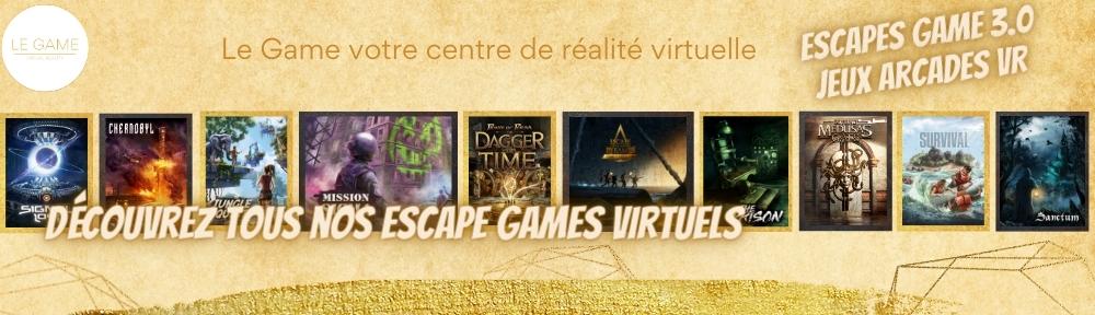 LE GAME centre de réalité virtuelle et escape game Brabant Wallon